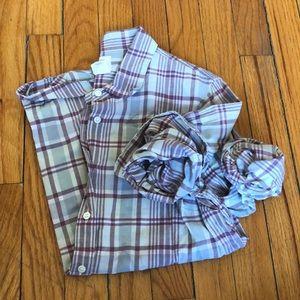 J. Crew Mint Plaid Boy Shirt